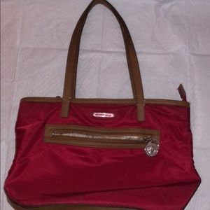Michael Kors Red Canvas Tote 👜